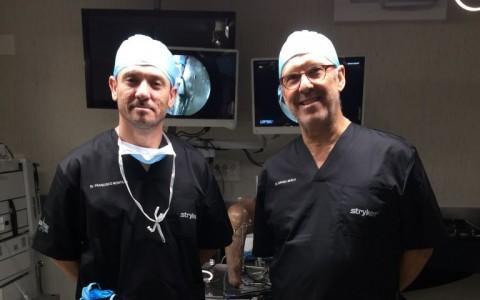 Dr. Muela y Dr. Montilla. Profesores en el Curso de Reconstrucción de Ligamento Cruzado Anterior y Ligamento Cruzado Posterior en Madrid (2)