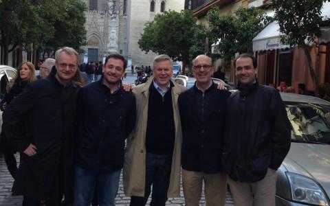 Con los Dres Peter Wehling y Julio Reincke de Dusseldorf, inventores de Orthokine.