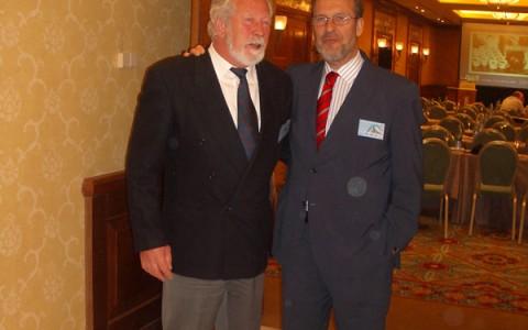 El Dr Muela con el Dr Steinbrick de la Endoklinik de Hamburgo.
