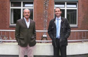 El Dr Ribera con el Dr Cordero en la Lubinus Klinik de Kiel. Alemania.