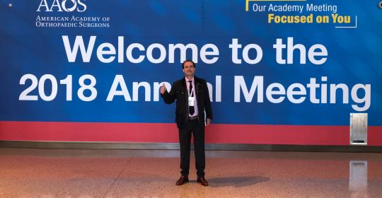 Cirugía ortopédica Sevilla: el Dr. Ribera asiste al Congreso Anual de la AAOS