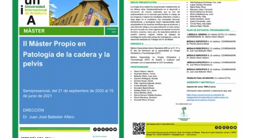 El Dr. Ribera, Coordinador y Profesor del II Máster Patología de Cadera y Pelvis