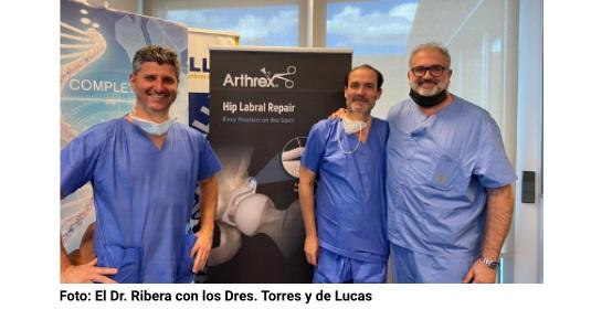 El Dr. Ribera, Profesor-Instructor del Curso Práctico de Artroscopia Cadera Arthrex-Madrid 2021