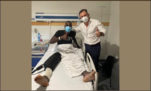 El Dr. Montilla interviene quirúrgicamente al futbolista del Real Valladolid Moctar Sidi El Hacen El Ide