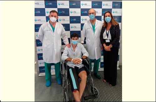 El torero Pablo Aguado operado con éxito del ligamento cruzado anterior y del menisco interno